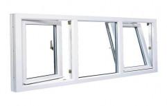 White UPVC Tilt and Turn Window for Residential
