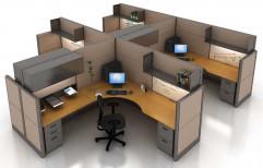 Wood Office Modular Workstation Furniture