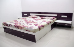 Wooden And PLB Multicolor Double Bed