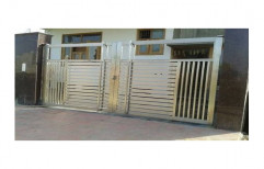2 Silver Stainless Steel Gate, for Home, Size: 1800x1800mm