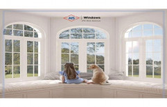 AIS White UPVC Bay Window, Glass Thickness: 8mm-32mm