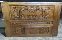 Carved Exterior Burma Teak Wood Door with Carving