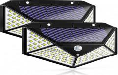 Cleversion Solar Lights Outdoor 100 LEDs Solar Motion Sensor Light 1000 Lumens Waterproof light