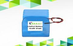Exegi Solar Lithium Battery, Warranty: 5 Years, 12.8V