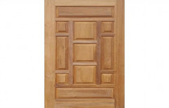 Hinged African Teak Wood Door, Size: 7x3.5 Feet