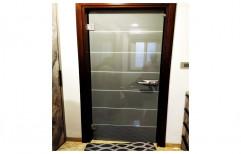 Hinged Decorative Back Printed Laminated Designer Glass Doors