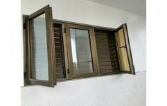 Modern Powder Coated Aluminium Z Section Window