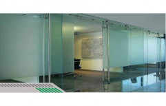 Plain Frosted Glass Partition, Shape: Rectangular