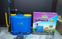 Plastic Pump-3.6 Lph 2 in 1 Sprayer Hand & Battery Operated Sprayer, Size: 16 Litres