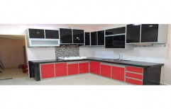 PVC L Shape Modular Kitchen, Warranty: 1-5 Years