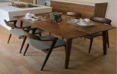 Rectangular (Table) 4 Seater Wooden Dining Table Set