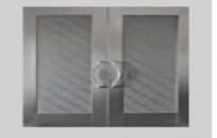 Standard GI Steel Rail And Stile Doors, for Office