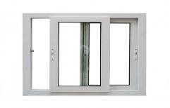 UPVC Glass Sliding Window, Glass Thickness: 4 Mm