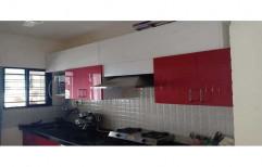 Wall Mounted Kitchen Chimney Cabinet Set