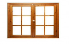 Wood Brown Glass Windows, For Home, Size/Dimension: 7'by3'