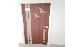 Wood Sliding Decorative PVC Flush Doors, For Home, Interior