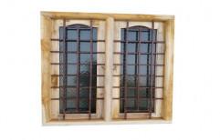 Wood,Ss Modern Rectangle Wooden Window, Size/Dimension: 4x3 Feet