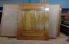 Wooden Color Standard teak wooden door, Size: 81* 33, 1 Inch