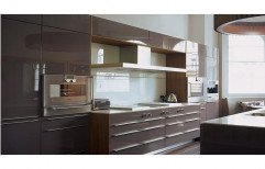 Wooden Commercial Acrylic Modular Kitchen