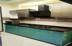 Wooden Straight Modular Modern Kitchen