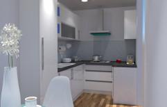 Wooden U Shape Kitchens Interior Service, Warranty: 1-5 Years