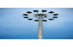 AC GI LED High Mast Lighting Pole For Outdoors,Commercial Complex