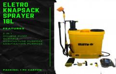 Double Pump Eletro Agriculture Knapsack Backpack Sprayer, 18 L, Battery