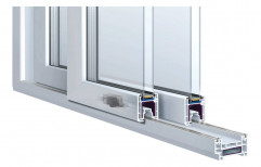 uPVC Transparent AMD Double Glassing Window, For Home