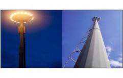 Galvanized Iron 16 Meter High Mast Lighting Pole, For Outdoor