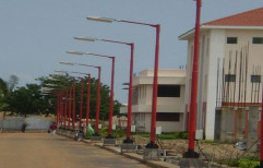 15-30 M Steel Tubular Lighting Pole, For Street