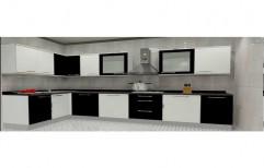 Wooden L Shaped Kutchina Modular Kitchen Designing Service