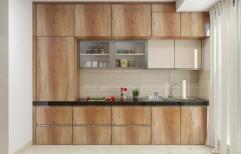 10 X 7 Semi Modular Parallel Shape Modular Kitchen, Work Provided: Wood Work & Furniture