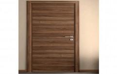 Brown Laminated 35mm PVC Flush Door, Exterior